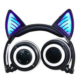 Auriculares Over Ear con Orejas y Luz - Bluetooth