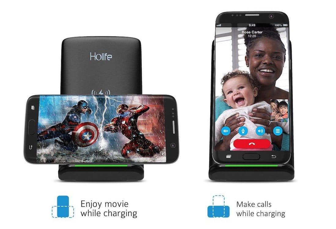 Holife: Base de carga inalámbrica Qi - iPhone X, iPhone 8 y iPhone 8 Plus