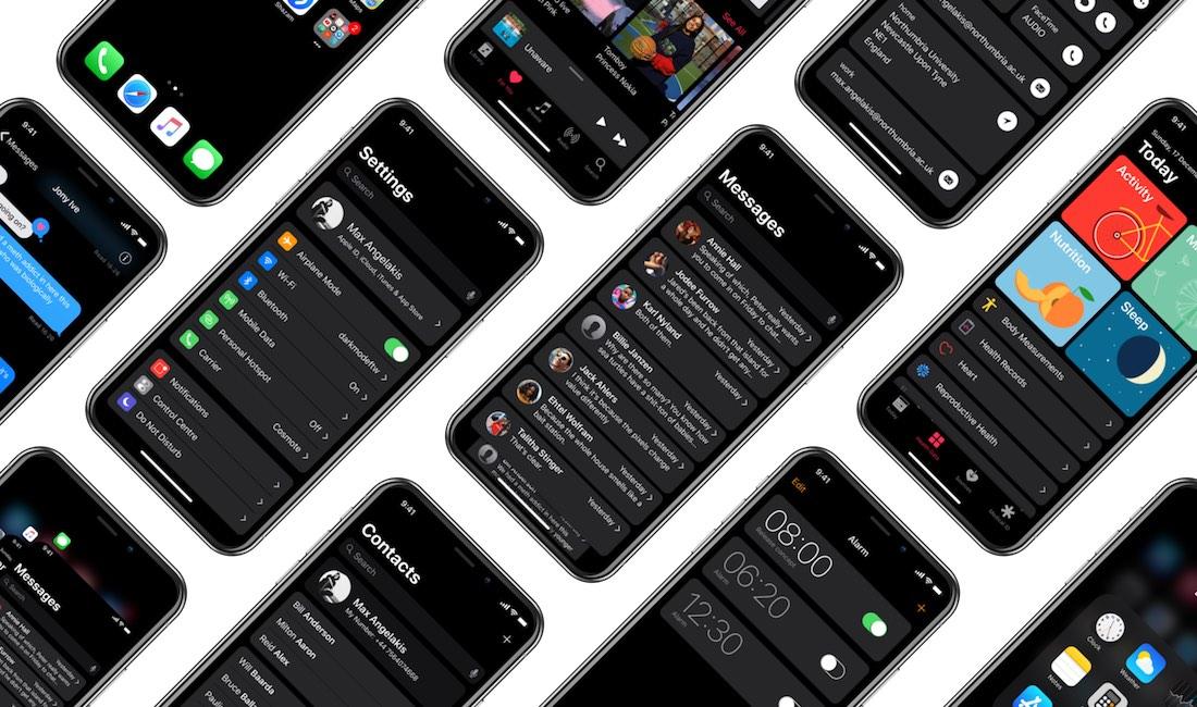 Modo oscuro iOS