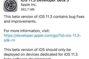 iOS 11.3 beta 3
