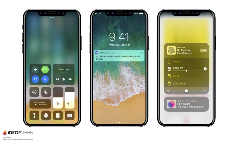 iPhone X 8 iOS 11
