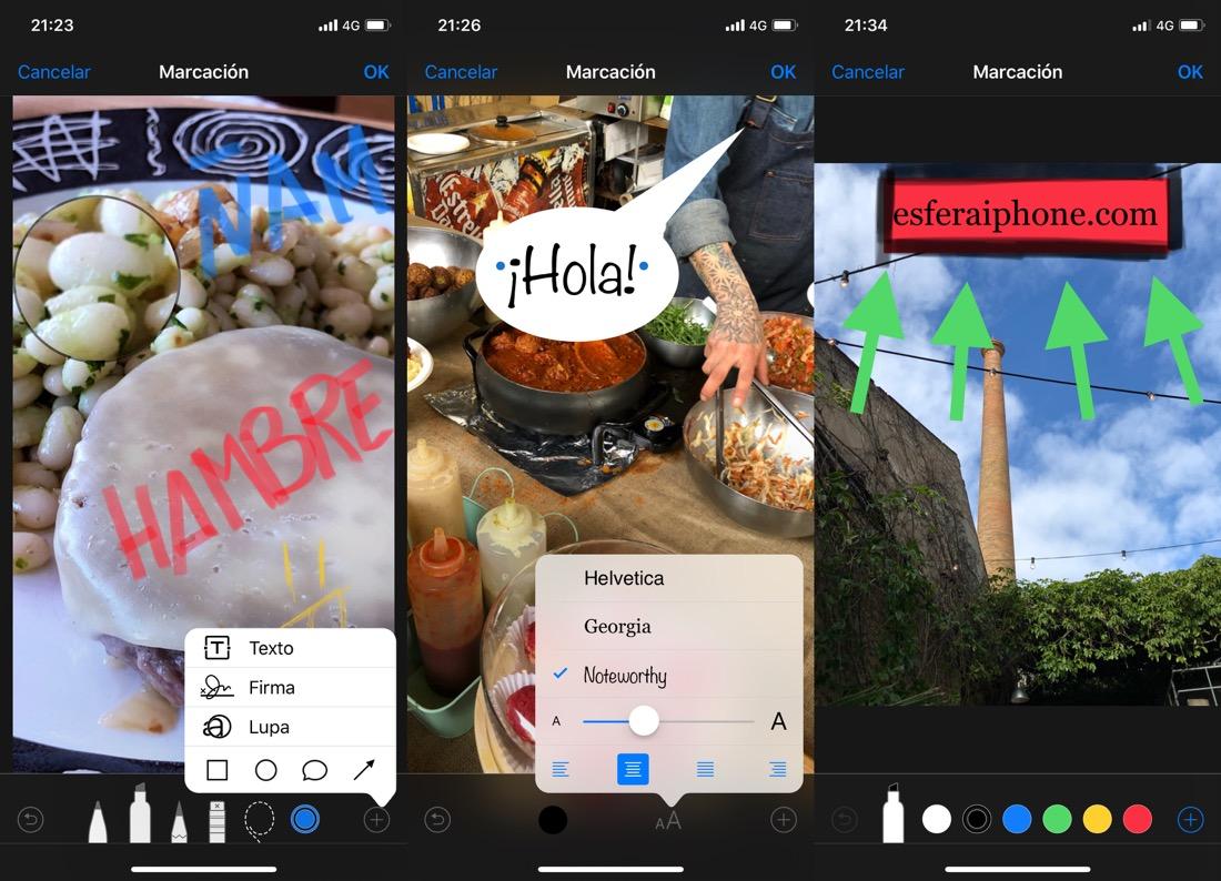 Herramienta Marcación fotos iOS 11