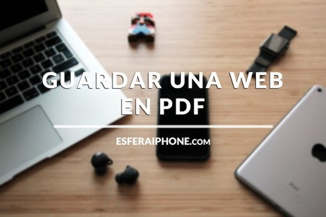Guardar una web en PDF con Safari