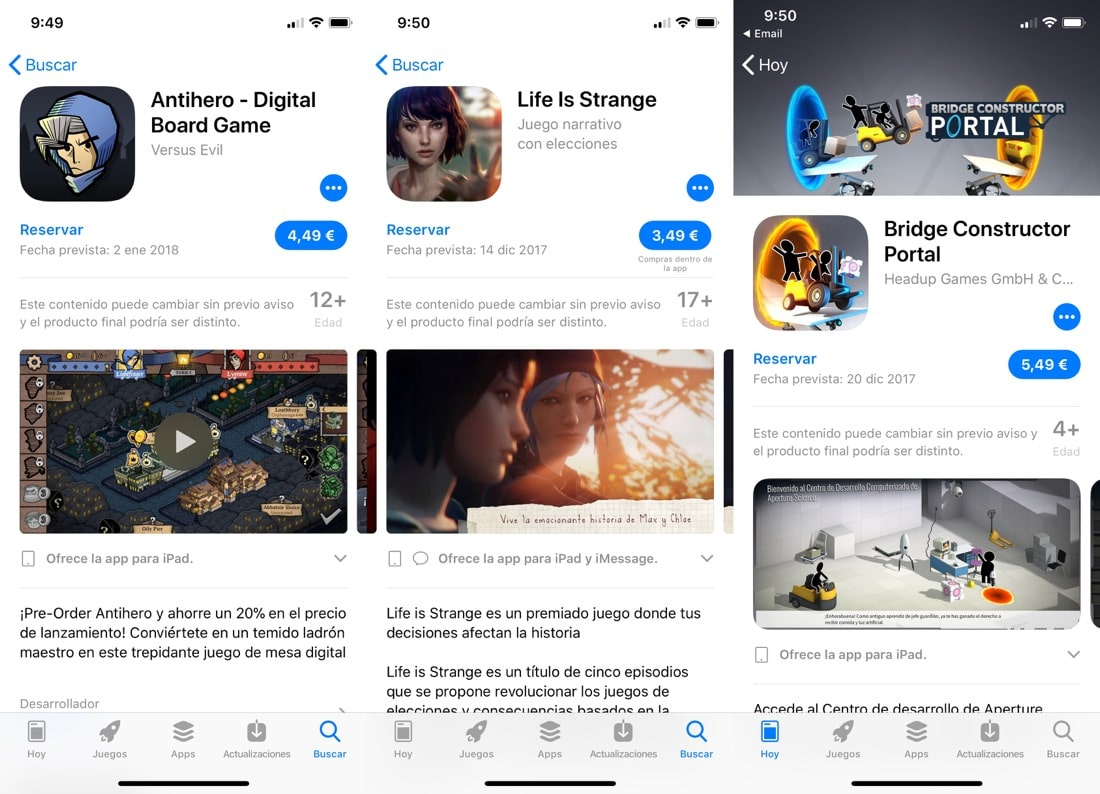 reservas App Store