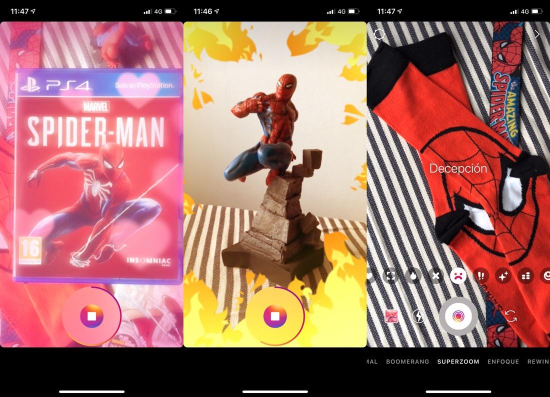 Nuevos efectos Superzoom en Instagram Stories