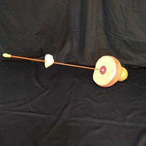 strange electro acoustic friction drum