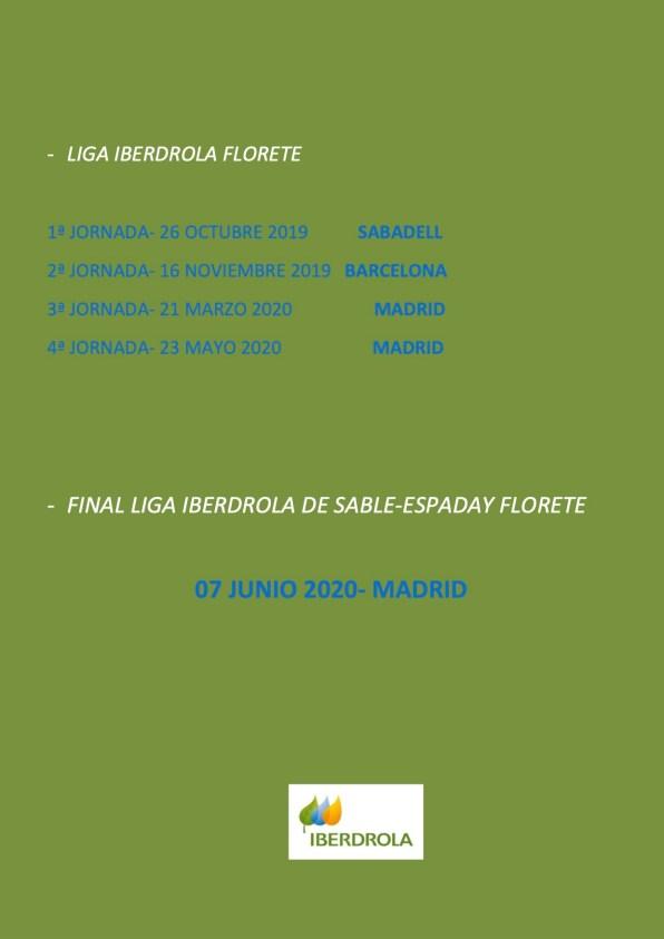 CALENDARIO COMPETICIONES LIGA IBERDROLA 2