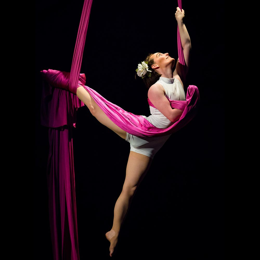 chase brennan performing on aerial fabric