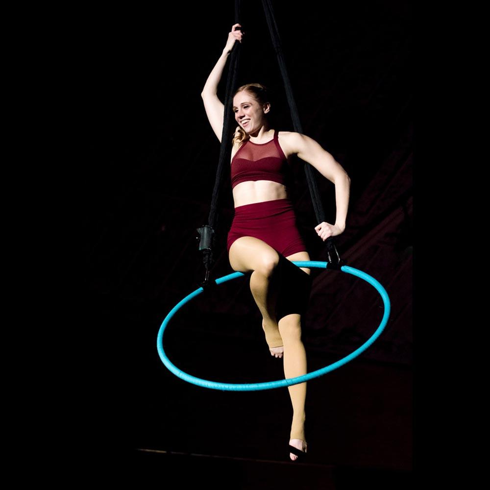 chels errante performing on aerial hoop