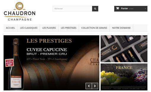 E-commerce Prestashop Champagne Chaudron