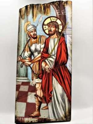 Χειροποίητη Αγιογραφία Ο Νυμφίος ζωγραφισμένη στο χέρι Επτανησιακή Σχολή. Διαστάσεις 0,31εκ Χ 0,14εκ