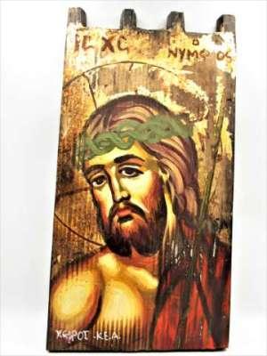 Χειροποίητη Αγιογραφία Χριστός Ο Νυμφίος ζωγραφισμένη στο χέρι, βυζαντινή. Διαστάσεις 0,31εκ Χ 0,15εκ