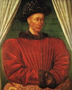 Portrait du roi en 1445