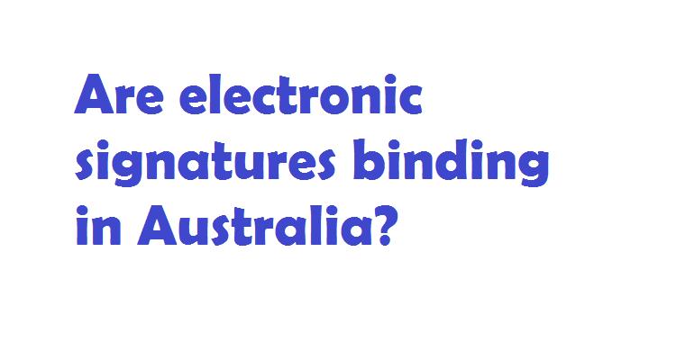 electronic signatures in australia