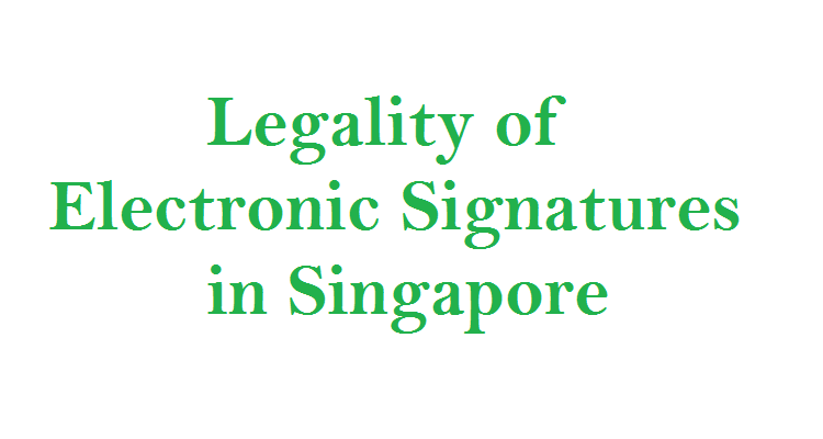 electronic signatures in singapore