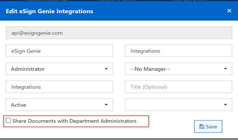 edit esign genie integrations
