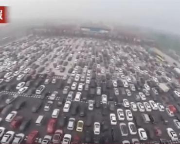 Increíble embotellamiento de tráfico en China