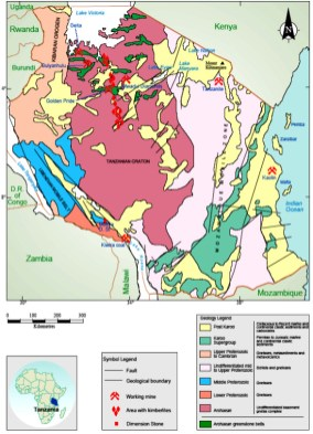 Geology of Tanzania in a Map