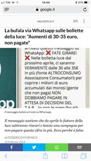 Fake News Aumento Bolletta