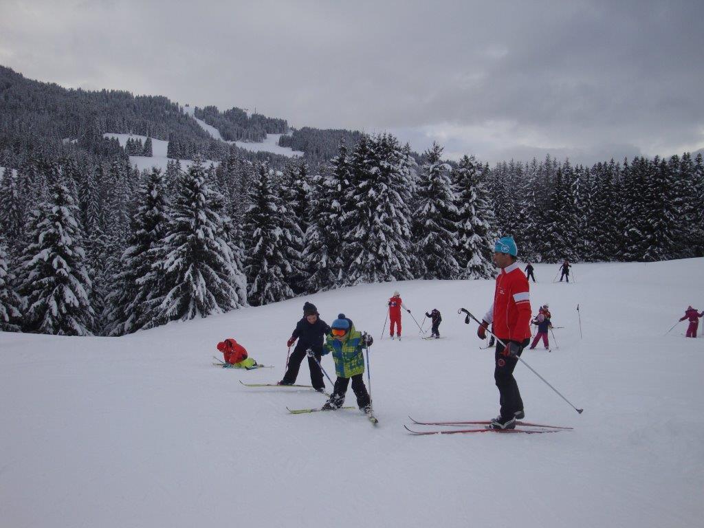 Première séance de ski de fond pour les GS