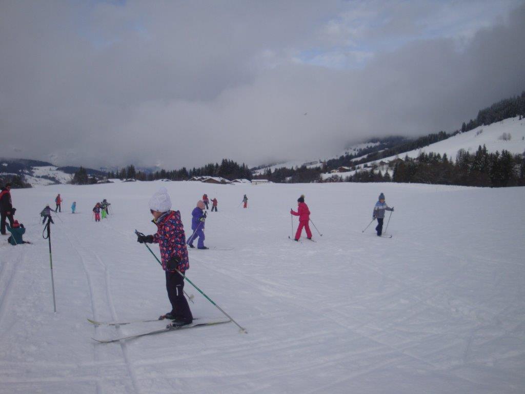Première séance de ski de fond pour les GS/CP