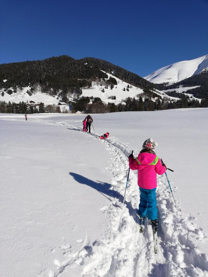 Classe 3 : dernière sortie ski de fond pour le mois de février. Vivement le mois de mars ! 🎿😎⛷️