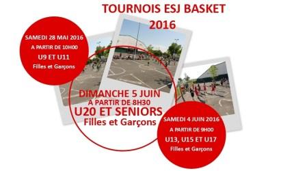 Tournois ESJ Basket 2016
