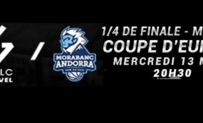 Offre préférentielle clubs et licenciés – Mercredi soir MATCH DECISIF – 1/4 de finale de Coupe d'Europe