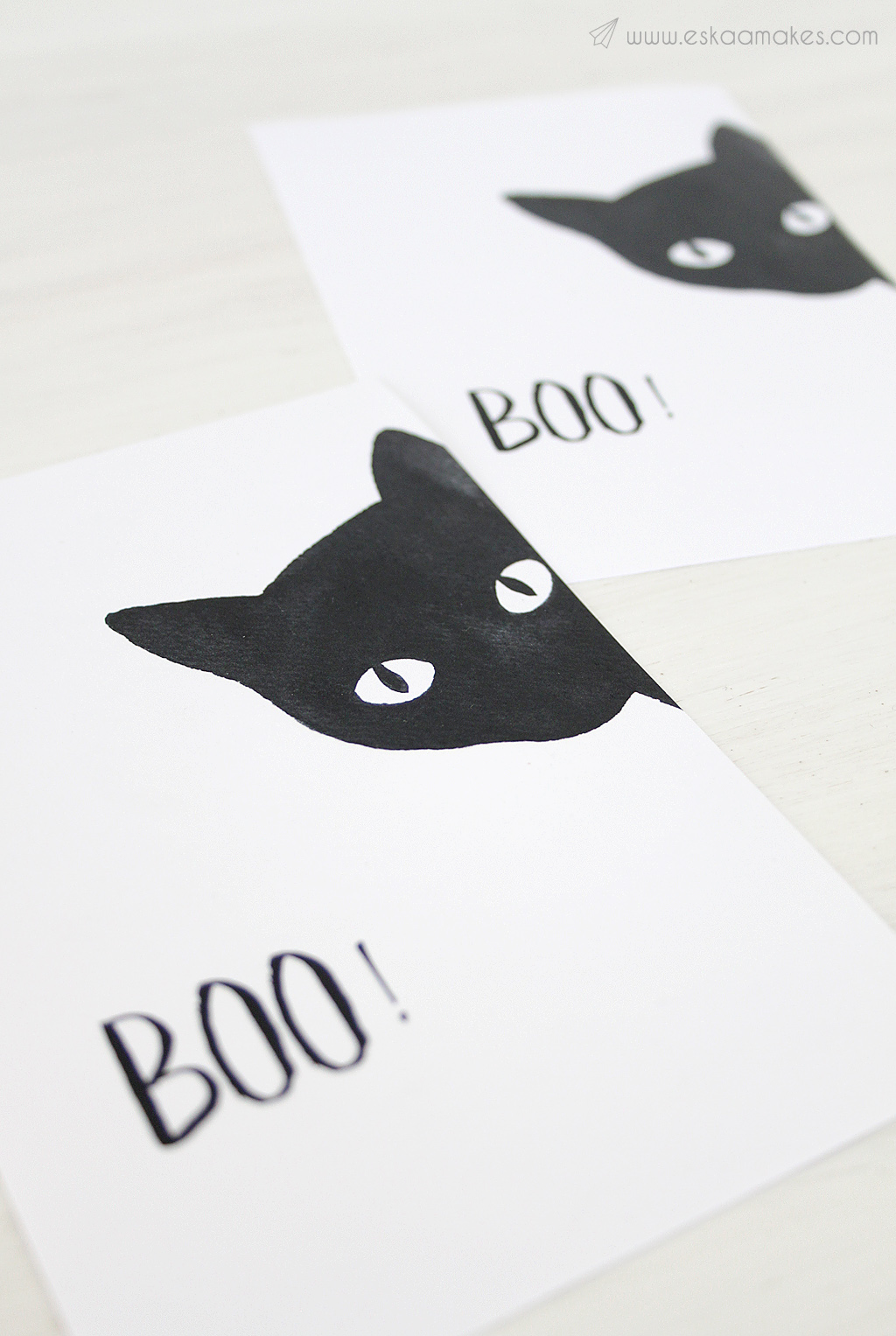 Free Printables Black Cat For Halloween Es Kaa Makes