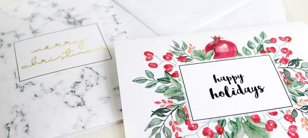 Free Printables Two Elegant Printable Christmas Cards