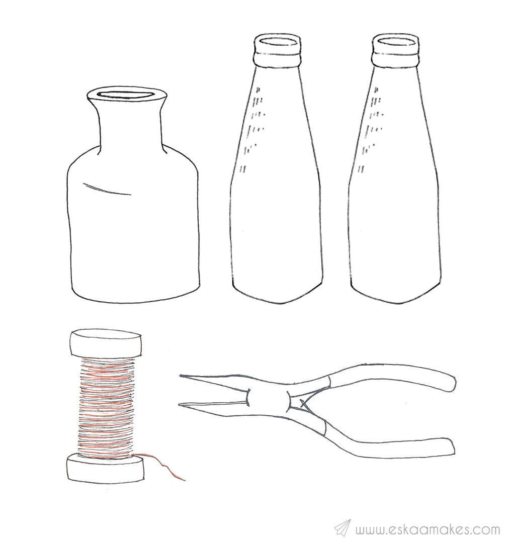 How To Make Hanging Bottle Vases Es Kaa Makes