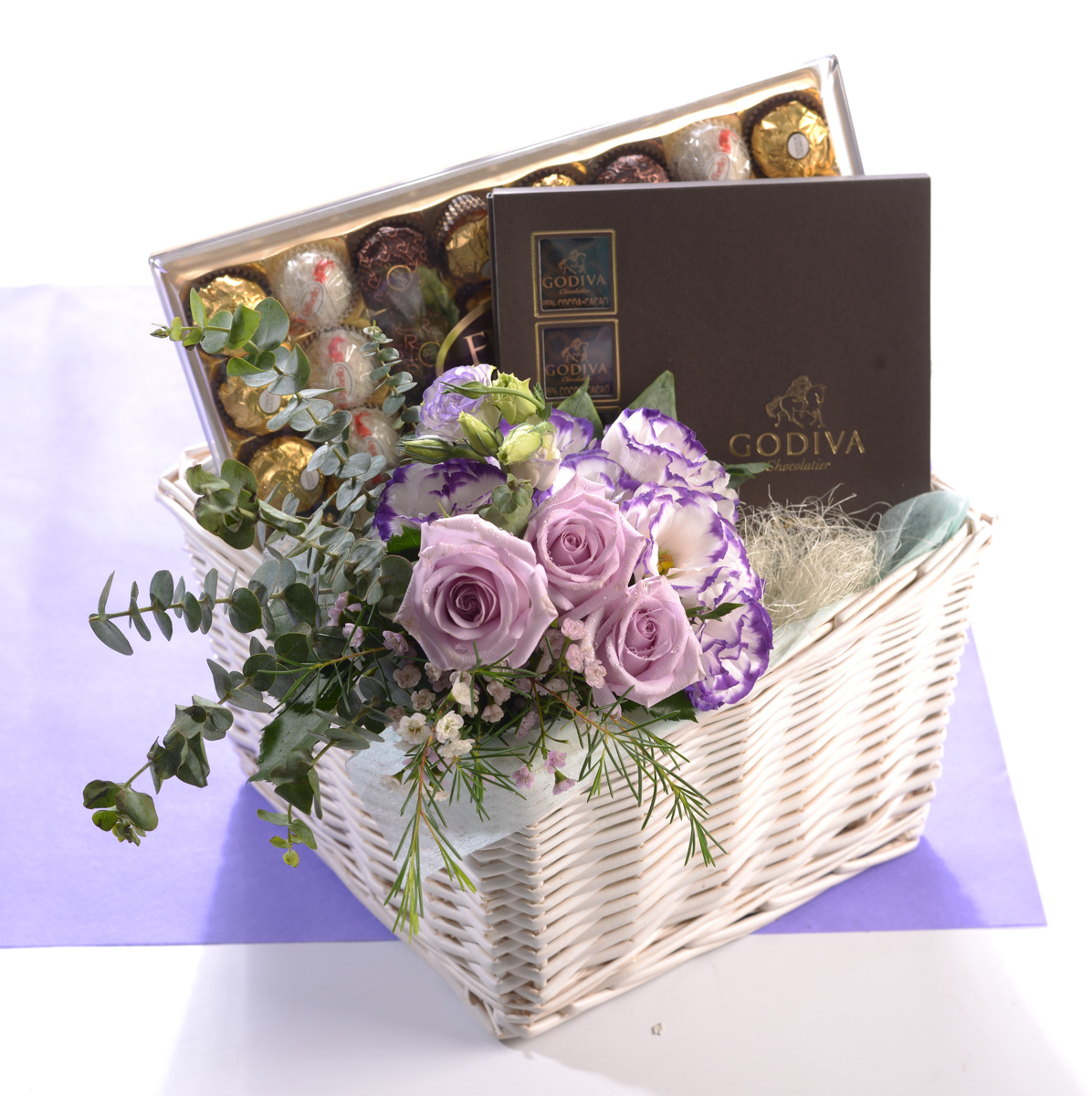 Chocolates Duo Ferrero Rocher T15 Collection & Godiva Chocolate Carre Collection | Birthday Gifts | Eska Creative Gifting