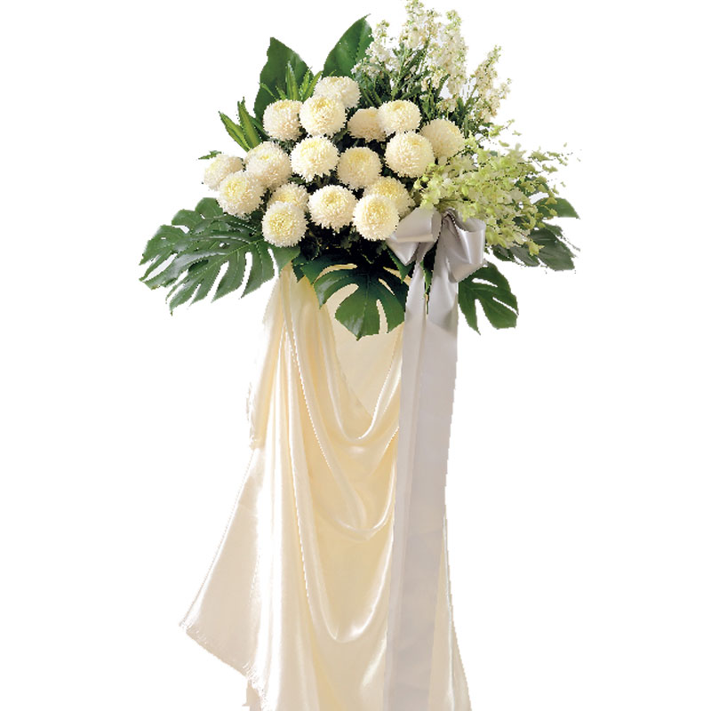 Heavenly funeral condolences flower stand | Condolence Flowers | Eska Creative Gifting