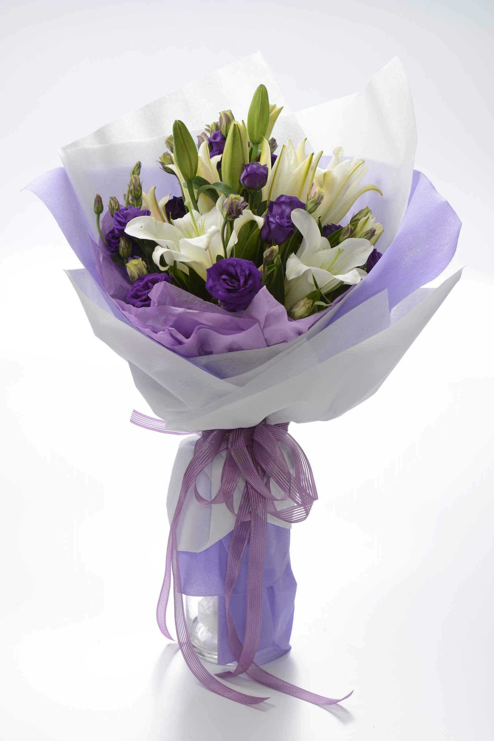 Lilies In Bloom | Hand Bouquet Flowers KL | Eska Creative Gifting