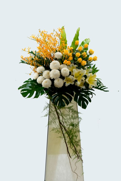 Graceful funeral condolence flower stand | Condolence Flower | Eska Creative Gifting