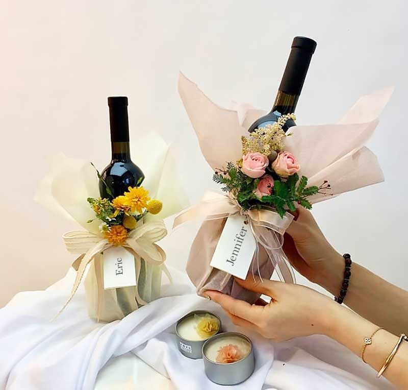 Flower & Wine | Mooncake Festival | Eska Creative Gifting