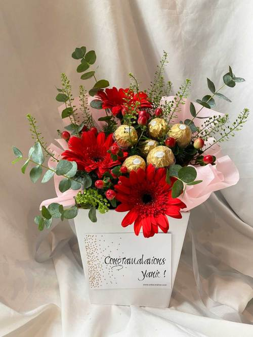 Ferrero Rocher Daisies | Flower Box and Baskets | Eska Creative Gifting
