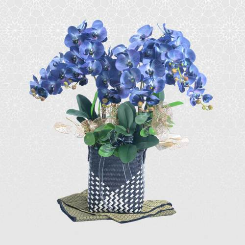 Mekar Aidil Fitri Gift Basket | Raya Sweet Treats & Flowers | Eska Creative Gifting