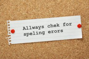25793708 - the phrase always check for spelling errors on a cork notice board