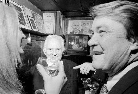 Norman-Mailer,Steve-Kroft,Vanity-Fair-Oscar-Party-1995