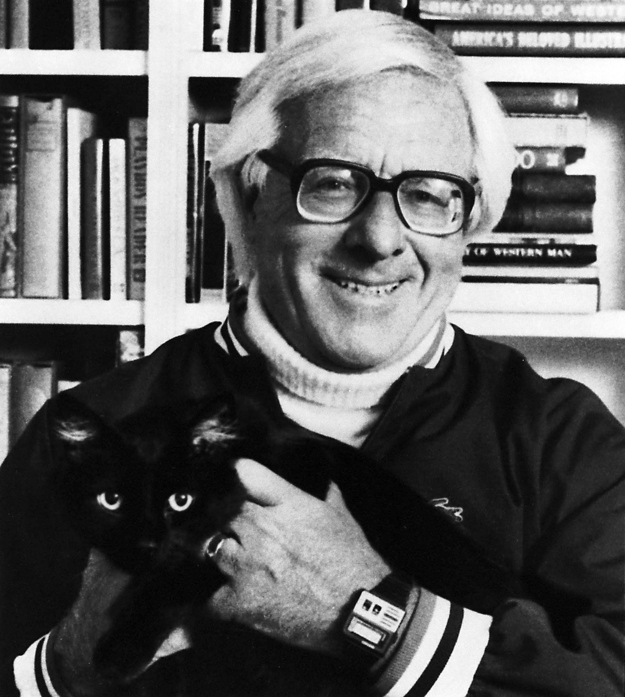 Ray-Bradbury-and-cat