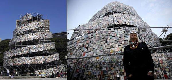 kitaplardan-yapilmis-yapilar-Tower-of-Babel-masterminded-by-Marta-Minujin