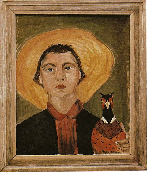 Flannery-O-Connor-1953-selfportrait