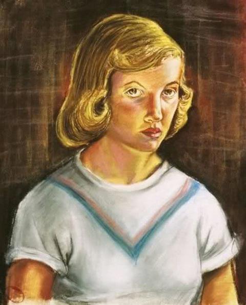 Sylvia-Plath-1951-selfportrait