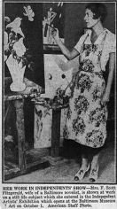 Newspaper clipping of Zelda painting, mid to late 1930s
