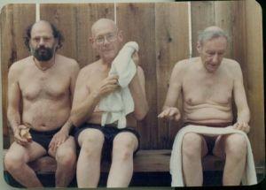 Allen Ginsberg, Philip Whalen, William S. Burroughs - Boulder-California'da bir yüzme havuzunda - (1978)
