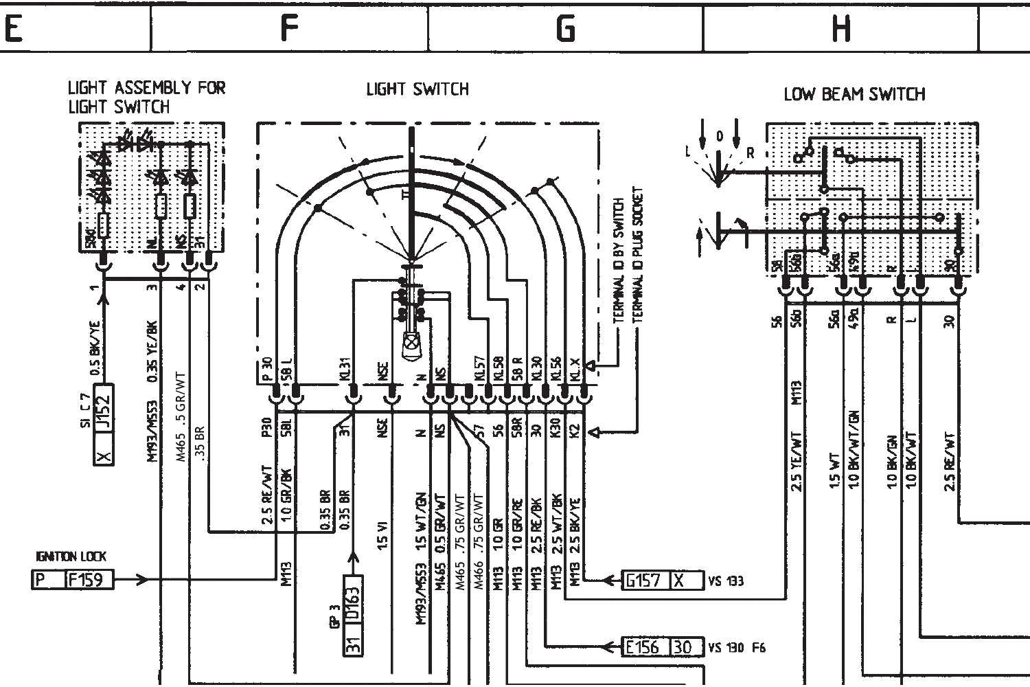 Headlamp Wiring Diagrams