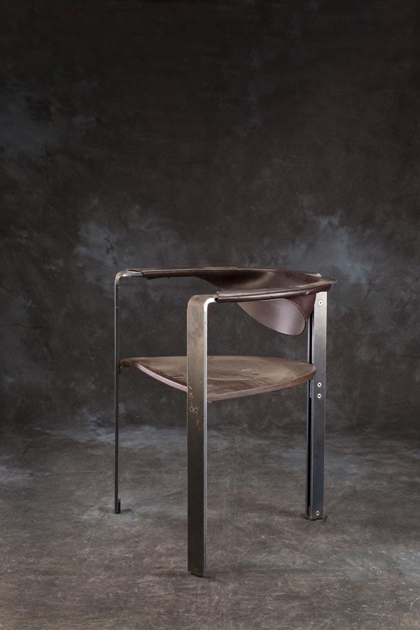 E mobilier Mandala vtc 12 06 002 - Le siège Mandala  acier cuir