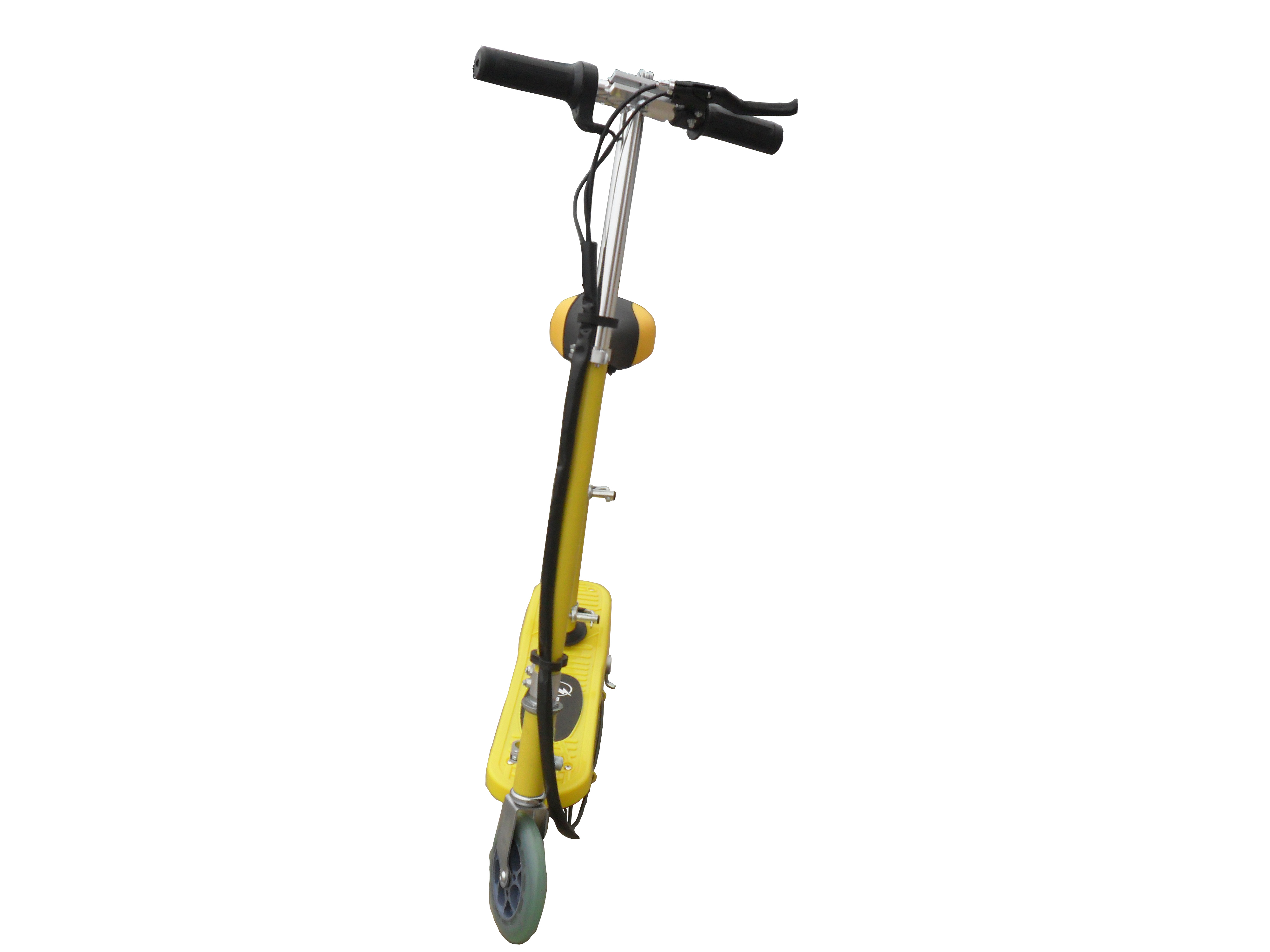 Yellow Kids Electric Scooter With Seat