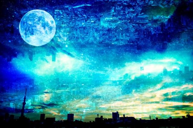 月までおよそ38万km。身近な物が月まで到達する距離になる